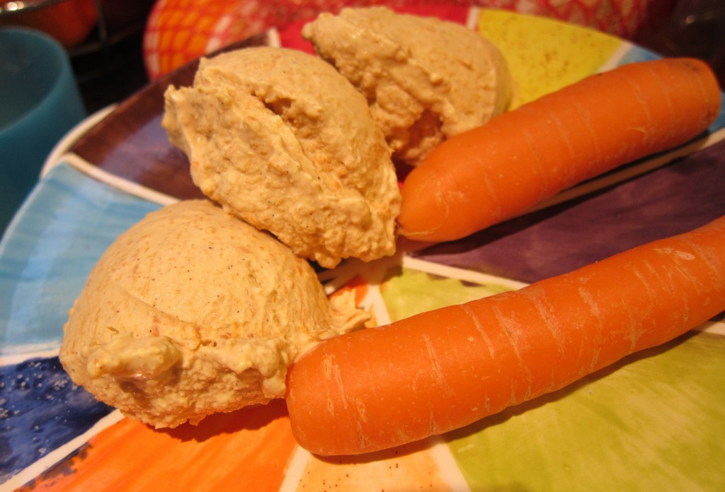 ... freezer, the carrot ice cream will remain tasty and readily scoopable