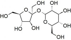 Sucrose molecule, a k a caster sugar