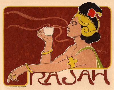 Cafe Rajah by Henri Meunier (1873-1922)