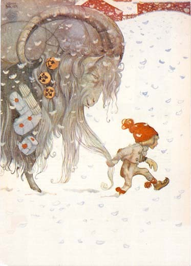 Christmas ... classic Scandinavian style. The iconic picture is by John Bauer, one of my favourite painters when it comes to fairies and goblins ;-)