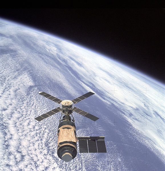 The US space station Skylab: in 1973, this was the place to be in case you craved 'real' ice cream in space