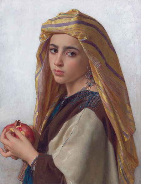 Girl with a pomegranate by William Bouguereau
