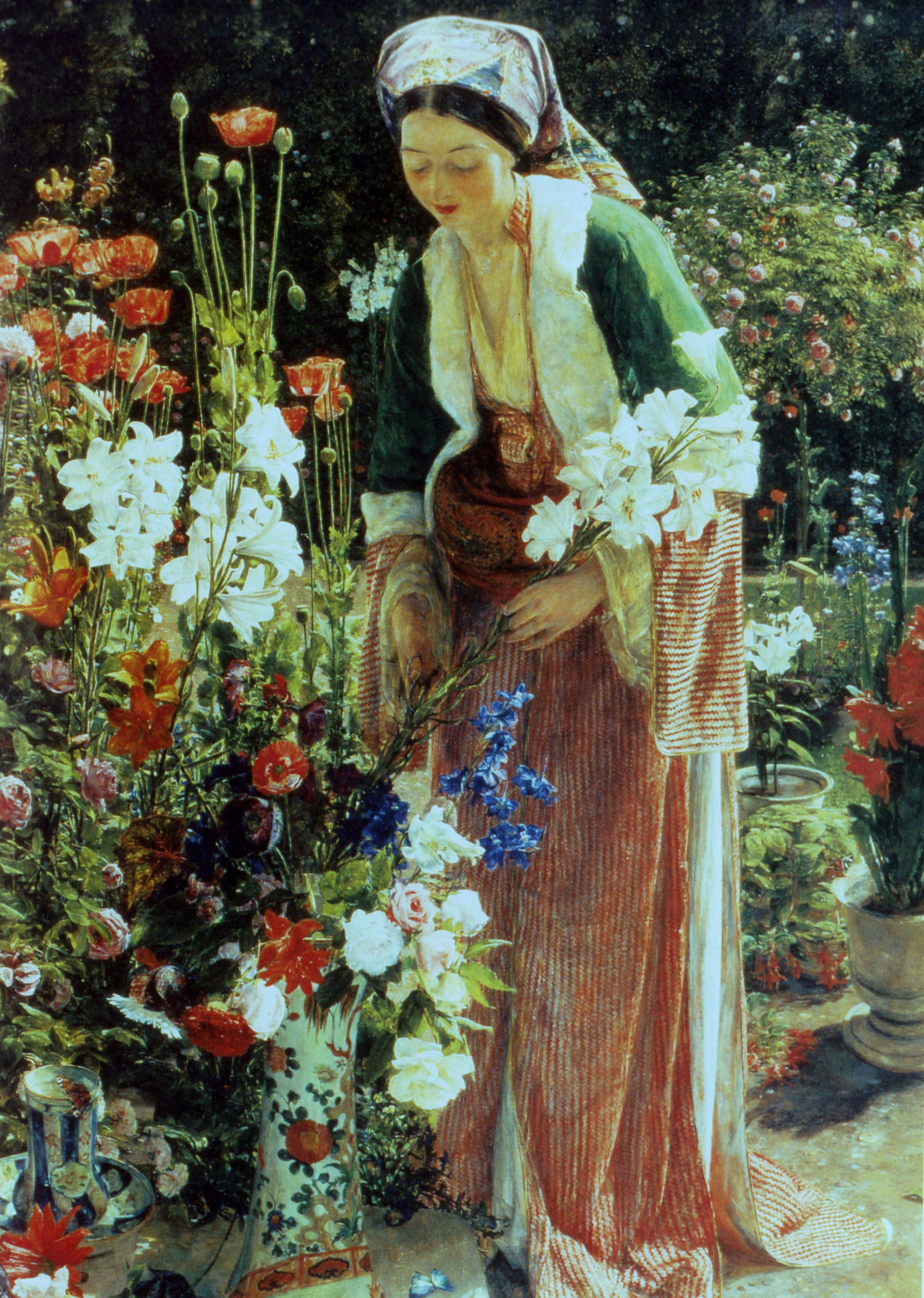 In the Bey's garden, by John Frederick Lewis