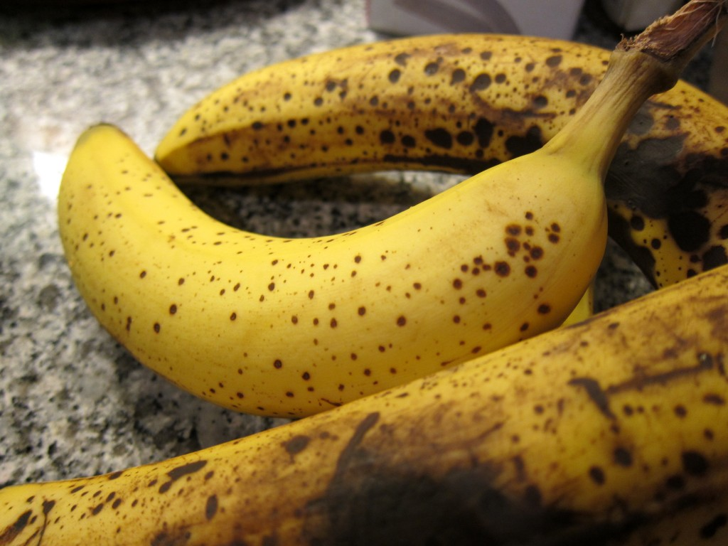 Using really mature bananas - one of the most important aspects of making banana ice cream