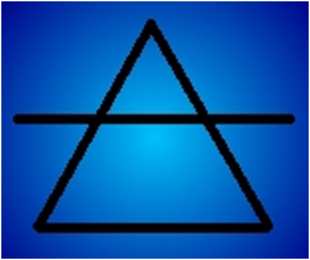 Air alchemical symbol
