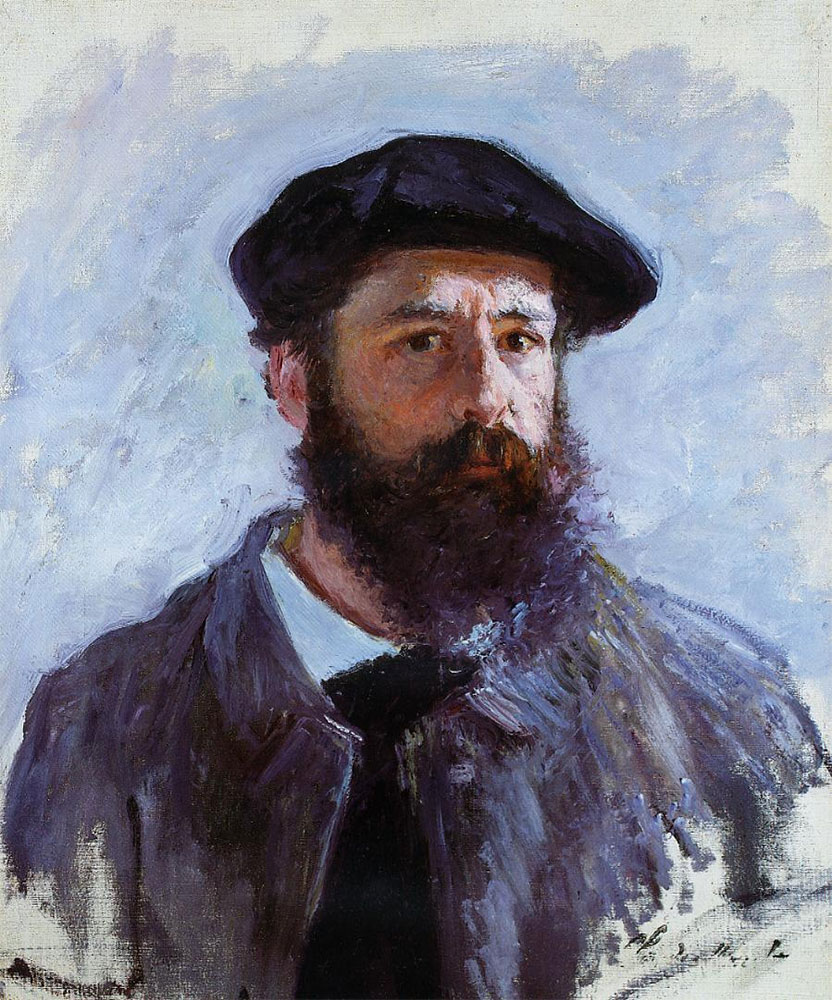 Claude Monet (1840-1926), in a self-portrait with a beret from the Artist's somewhat younger days.