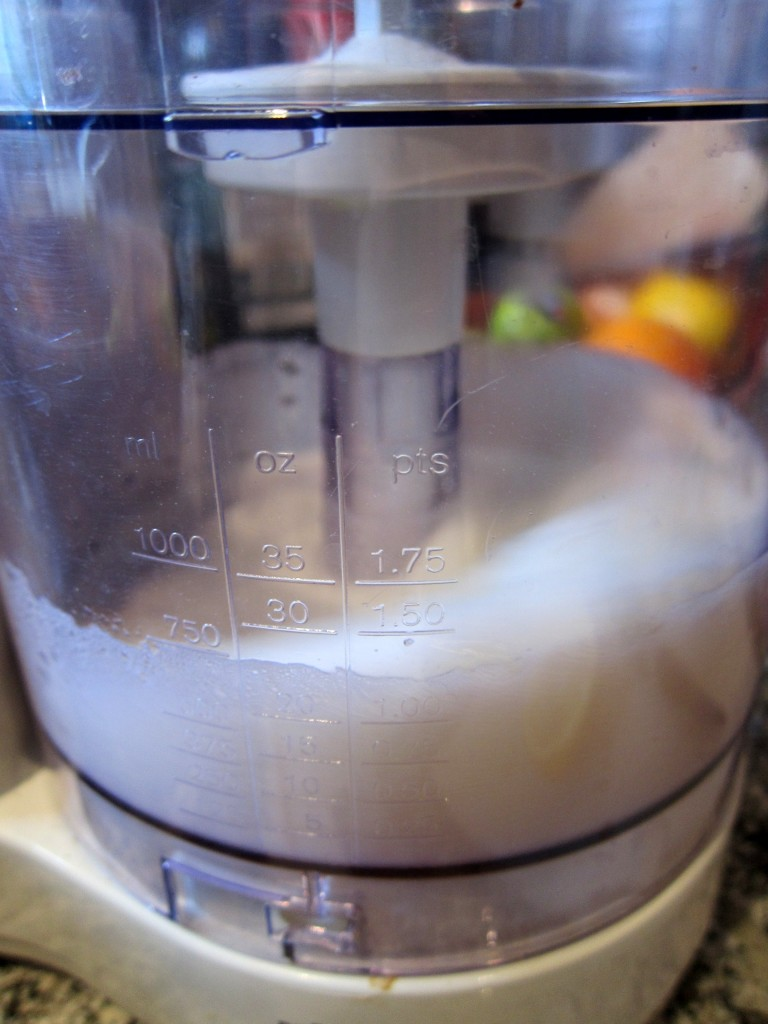 Time to start whisking the egg whites (together with a tablespoon sugar)