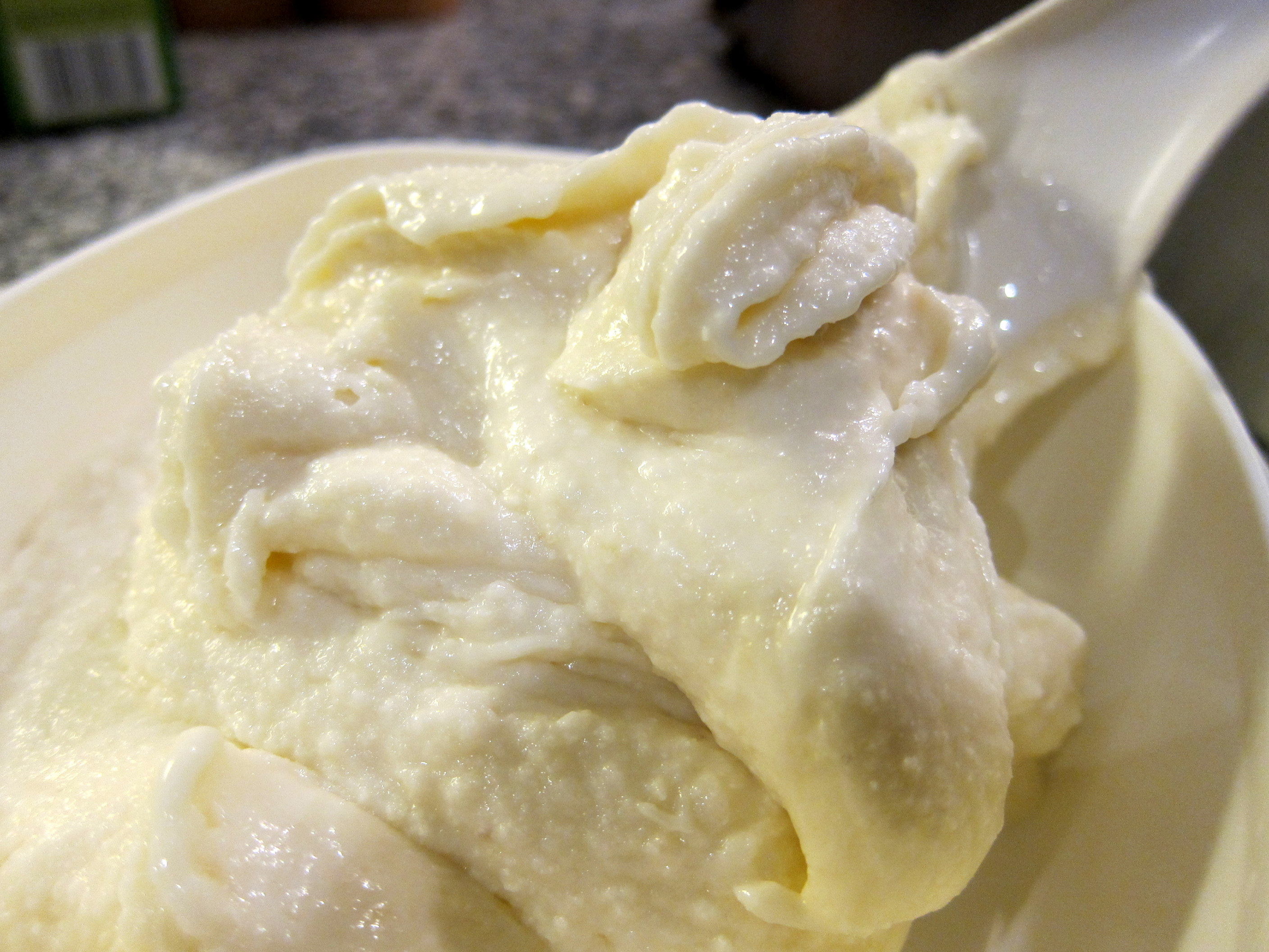 Marzipan ice cream - straight from the churning