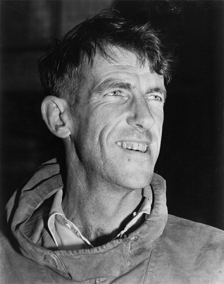 Edmund Hillary, New Zealander and possibly the world's most famous mountaineer. Hillary and his sherpa guide Tenzing Norgay were the first ones to reach the top of Mount Everest, the world's highest mountain, in May 1953.