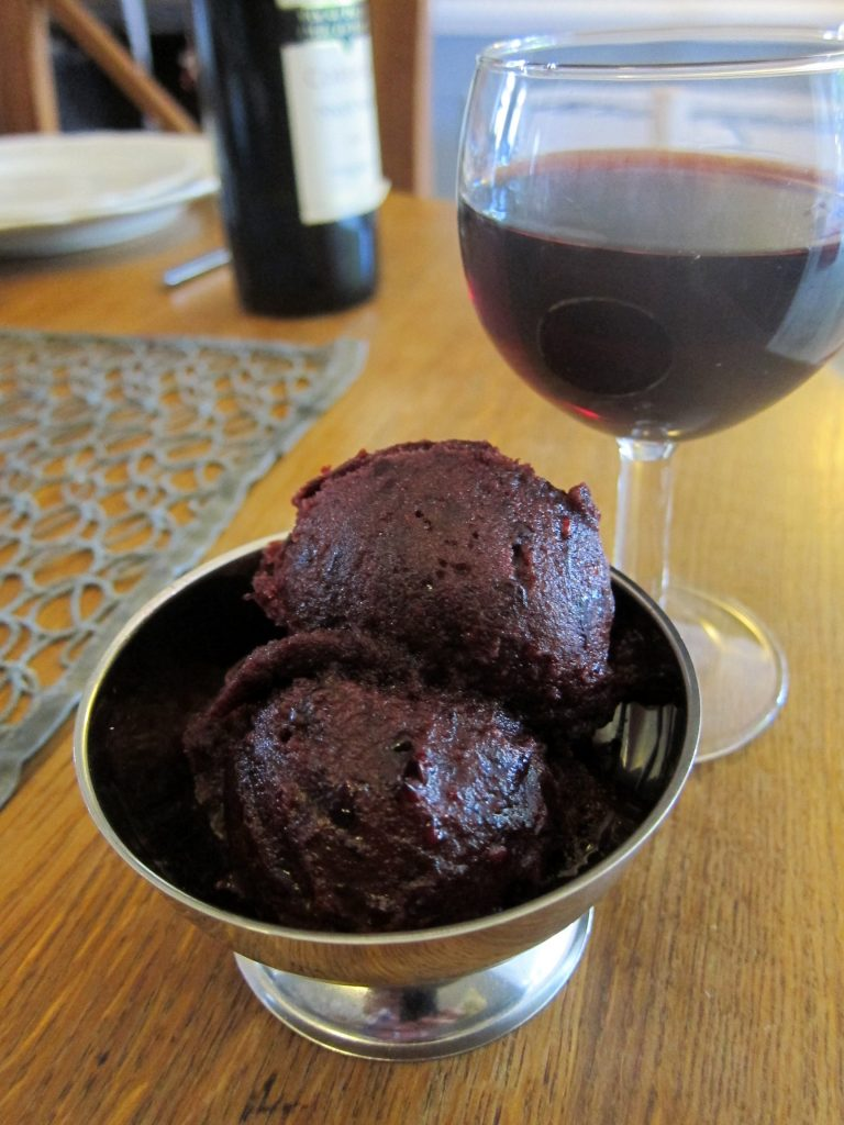 Blackberry Pinot Noir sorbet - a harmonious, complex and delicious flavour experience